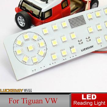 Car LED Reading Light for Tiguan VW Volkswagen Auto Interior Full Set LED Dome lamps Interior Lighting Fast HK Post
