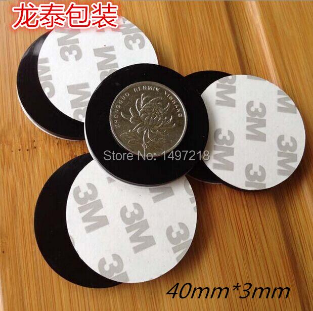 50 PCS 40mm x 3mm Black anti slip Silica gel rubber plastic bumper damper shock absorber 3M self-adhesive silicone feet pads(China (Mainland))