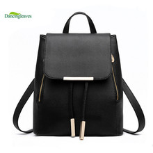 2015 New Design Pu Women Leather Backpacks School Bags Students Backpacks Ladies Women's Travel Bags Leather Package C0048T(China (Mainland))