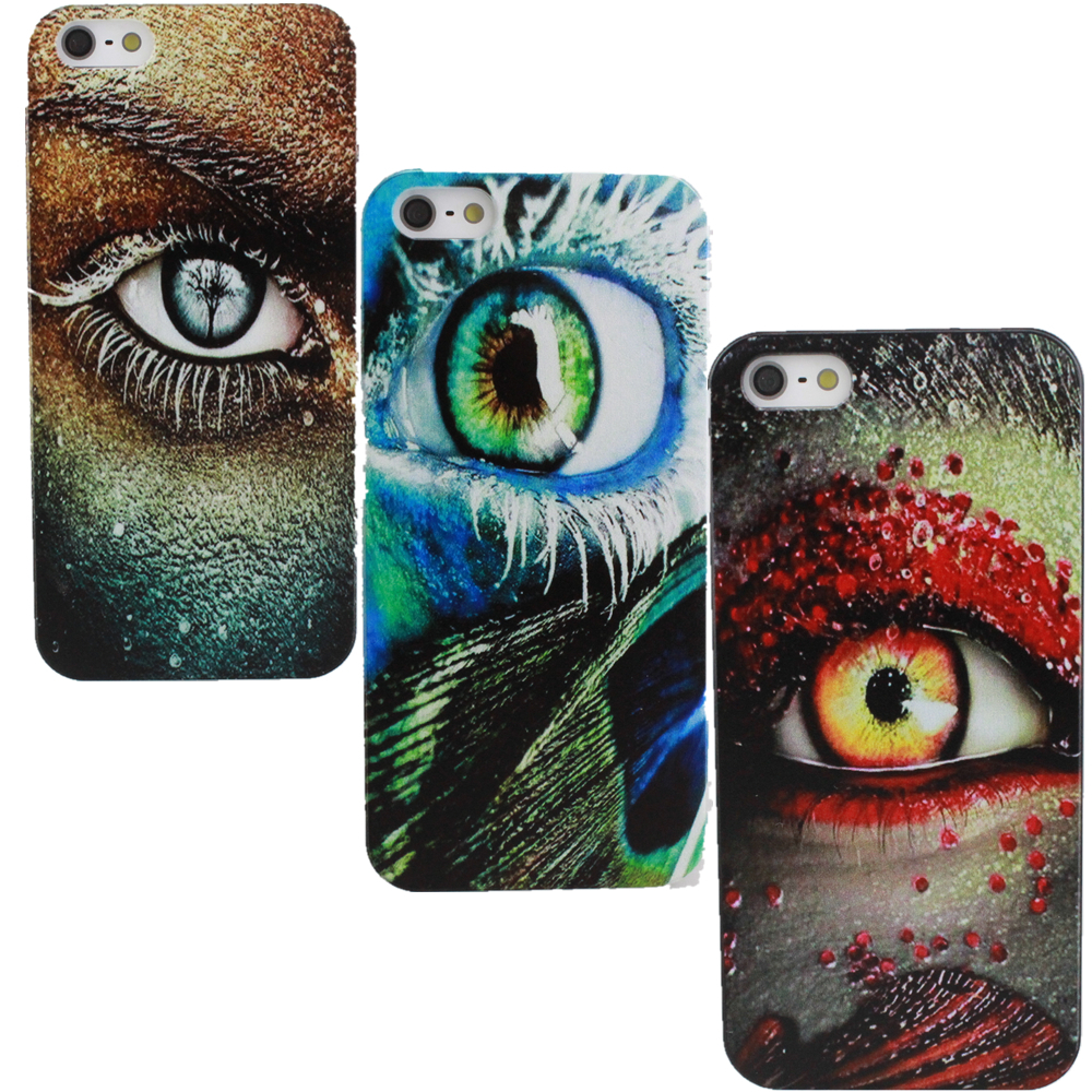 Retail dirt shock to blue eyes design custom printed hard plastic protective shell phone protection for iPhone44S55S5C(China (Mainland))