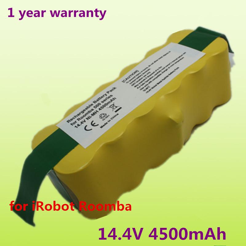 14.4V 4500mAh Replacement Battery Pack for iRobot 532 530 510 562 550 560 570 500 581 610 780 770 760 R3 battery Robotics(China (Mainland))