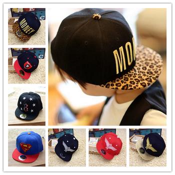 Дети дети хлопок хип-хоп кепка мальчики-младенцы девочки снэпбэк шляпы шапки бейсбол ...