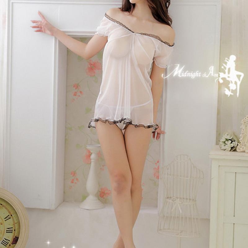 Sexy Women Ladies Lingerie Night Sleepwear Dress G-string Sexy Bedroom costumes Asian S - M(China (Mainland))