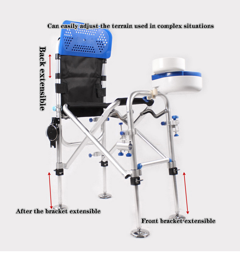 Reclinable Deluxe Fishing Chair Foldable Multi Function