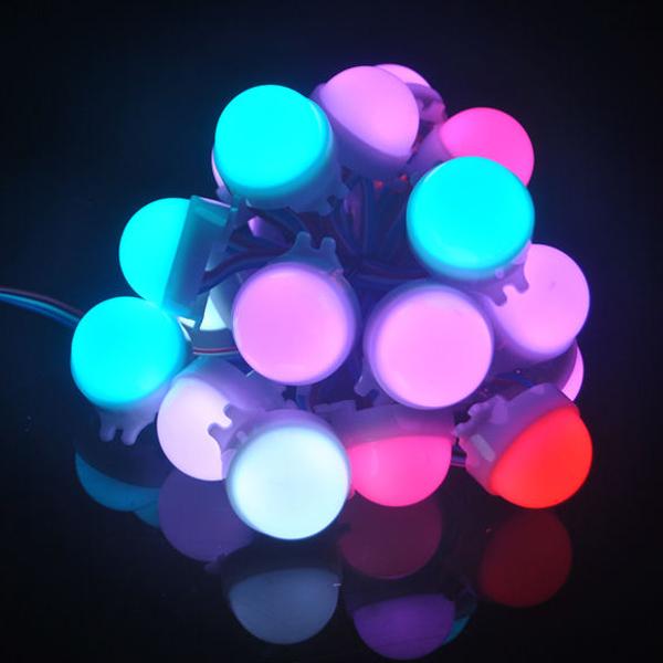LED Modules 20pcs/String advertisement billboard modulez light luz dc12v full color 30mm 3LEDs SMD5050 WS2811 led pixel light(China (Mainland))