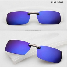 High quality 1PC Polarized Clip On Sunglasses Sun Glasses Driving Night Vision Lens Anti UVA Anti