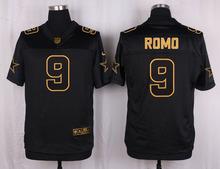 The 50 anniversary black gold men Elite Dallas Cowboys 11 Cole Beasley 9 Tony Romo 22 Emmitt Smith 8 aikman(China (Mainland))