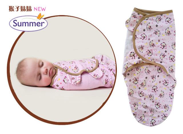 0-3 месяцев Ребенок 100% Хлопок Летом новорожденного swaddleme ребенок parisarc ребенка ...