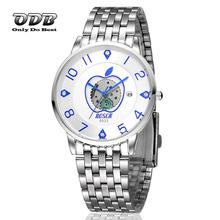 30 M impermeable de acero inoxidable reloj hombres reloj de cuarzo reloj de cuarzo electrónica Relojes hombres 2015 Ultra delgado Relojes Relojio