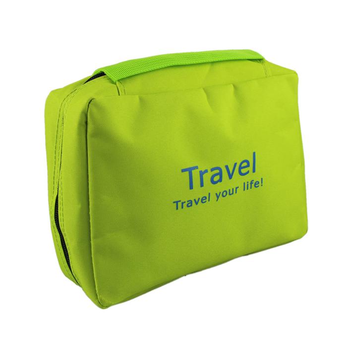Hot Marketing Simple Portable Wash Bag MakeUp Case Men Women Travel Kit Storage Sorting Bag Grass Green(China (Mainland))