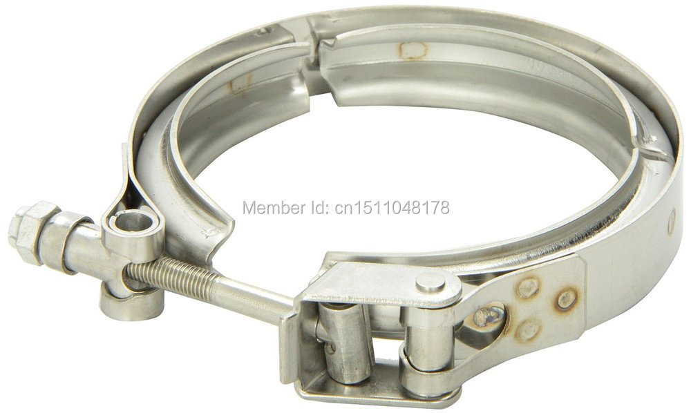 Stainless steel bolt clamp for auto exhaust downpipe turbo