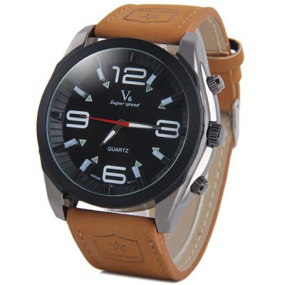 2015 Fashion Brand Mens V6 Watches Leather Band Mens Sports Quartz Watches Relojes Military Wrist watches relogio masculino<br><br>Aliexpress