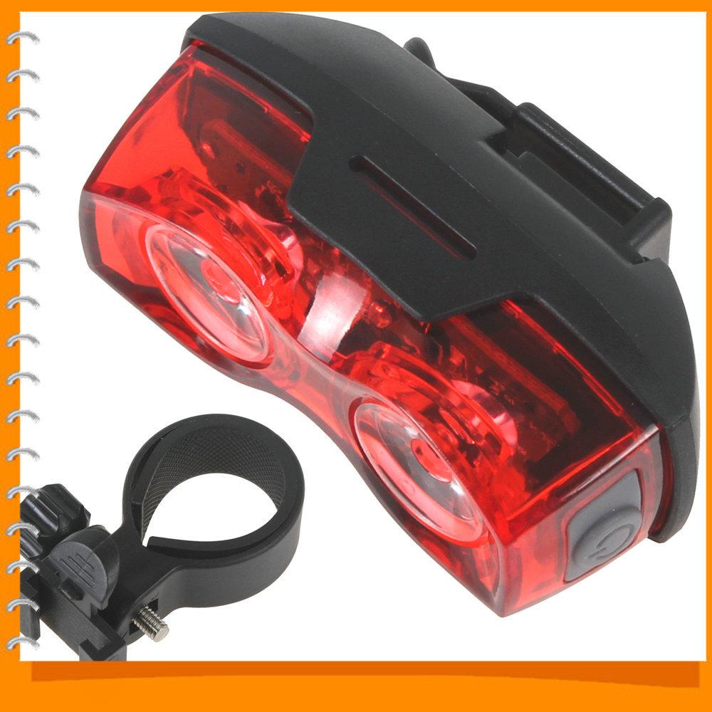 BSK-88 2 LEDs Two Eyes Bike Tail light Lamp LED Cycling Bicycle Taillight Bike Handlebar Back Rear Light for Max Safty Warning(China (Mainland))