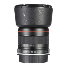 Kelda 85mm f/1.8 Manual Focus Portrait Lens for Canon EOS Camera(China (Mainland))
