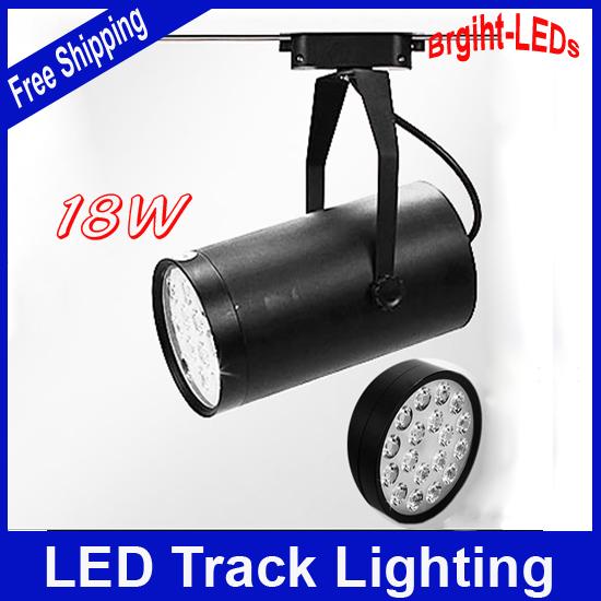 10pcs/lot 18W led track lighting AC230V aluminum white and black shell rail ceiling light spotlight Free Shipping<br><br>Aliexpress
