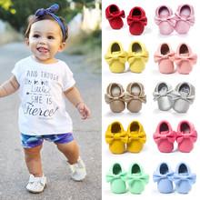 Handgemachte Weiche Unterseite Mode Quasten Baby Mokassin Neugeborene Schuhe 19-colors pu-leder Prewalkers Stiefel(China (Mainland))