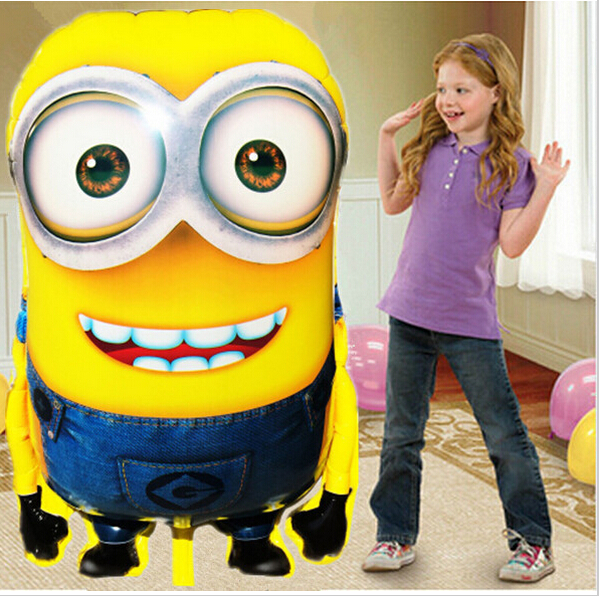 Cheap 92*65cm Big Size Minions Balloons ball Classic Toys Christmas Birthday Wedding Decoration Party inflatable air balloon(China (Mainland))