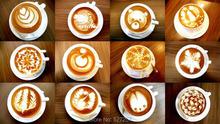 16Pcs set Fashion Cappuccino Coffee Barista Stencils Template Strew Pad Duster Spray Tools Free shipping
