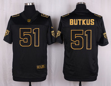 The 50 anniversary black gold men Elite Chicago Bears 51 Dick Butkus 34 Walter Payton 22 forte 17 Alshon Jeffery(China (Mainland))