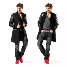 Men's Woolen coat  70% Wool Coat Black Business classic, High Quality Craftsmanship Jacket! Free Shipping(China (Mainland))