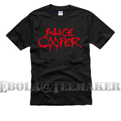 artwork bloody name alice cooper couple clothes man sport short-sleeve T-shirt(China (Mainland))