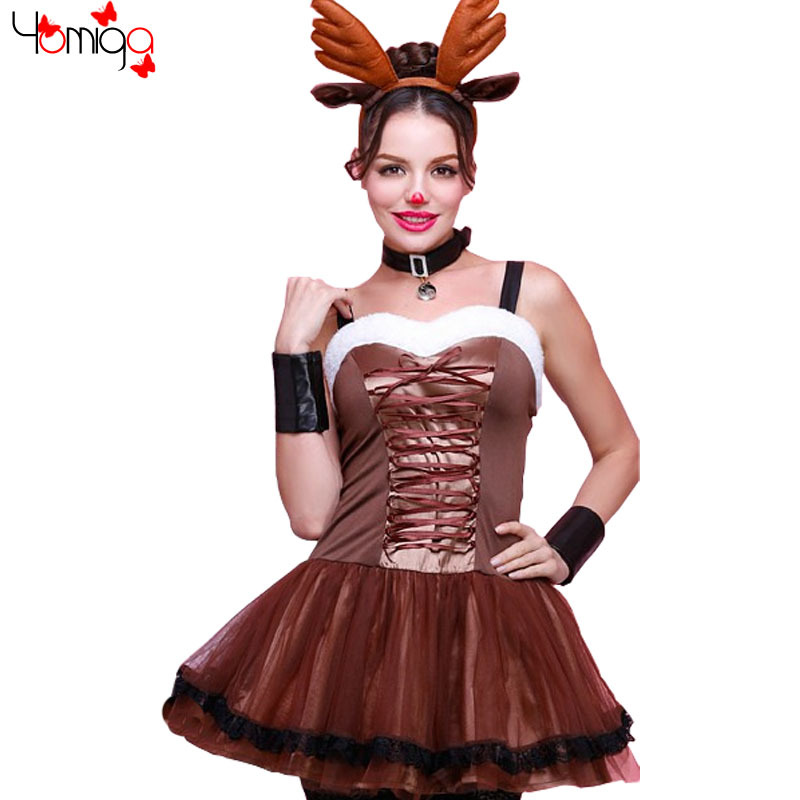 Girls Christmas Costume Fancy Dress Animal Themed Party