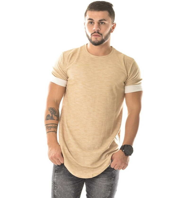 Fashion extra long shirts for men couples matching clothing hiphop clothes kanye west plain ...