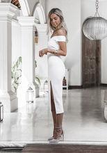 Дамы Вечеринка Клубная одежда платье черный, белый цвет костюм летние пикантные платья для женщин для Мода бинты Bodycon(China)