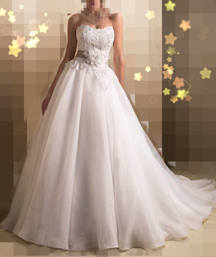 2015 А линии милая кружева свадебные платья Noiva белый кот органзы свадебное платье свадебные платья