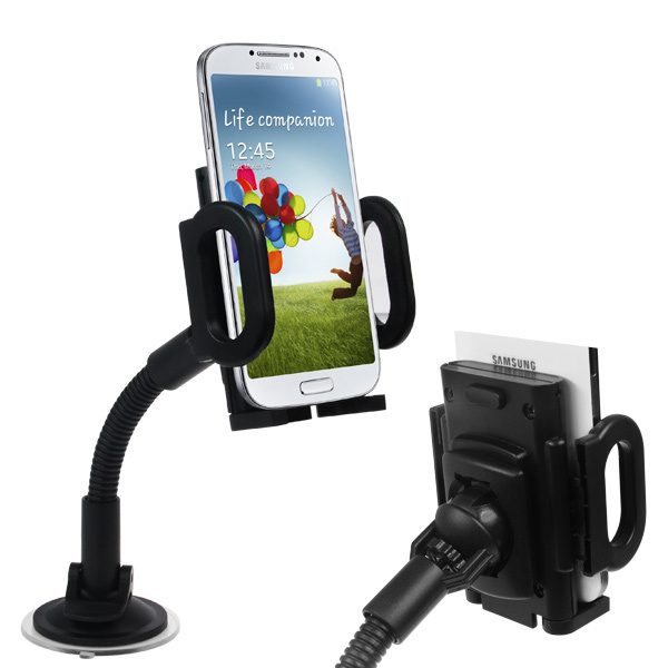 Universal 360 Degree Rotating Car Mount Stand Holder For iPhone 4 4S 5S GPS for iPod for HTC Mobile Cell Phone Holder(China (Mainland))