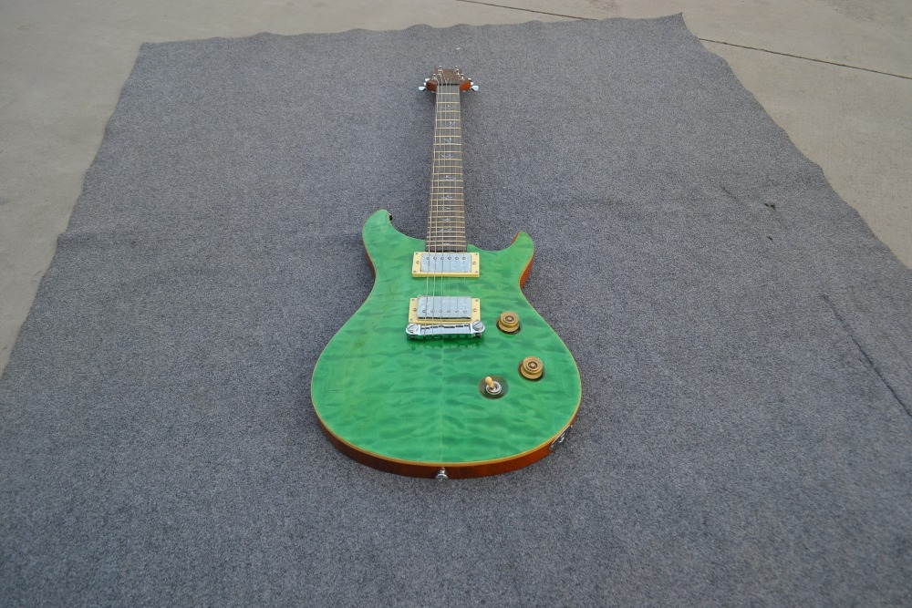 green best prs color High Quality EMS custom-made free shipping Direct Manufacturer electric guitar chinese custom shop(China (Mainland))