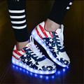 2017 male Simulation Led Shoes For Adults Fashion High Quality Unisex LED Luminous Light Shoes Men