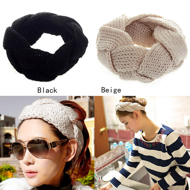 A16 Fashion 1Pc New Crochet Twist Knitted Headwrap Headband Winter Warmer Hair Band for Women Accessories H6564 P(China (Mainland))