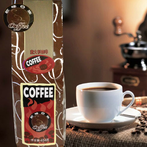 454g Taste of coffee beans coffee powder high quality bags green slimming coffee beans tea