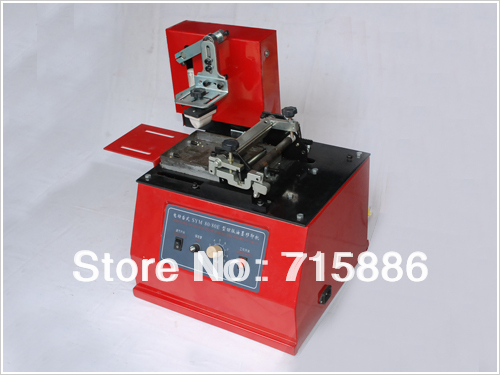FREE SHIPPING HIGH QUALITY ELECTRI PAD PRINTING MACHINE OPEN INK CUP SYSTEM,MAX PLATE 100*100MM(China (Mainland))