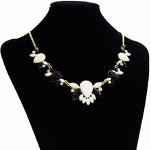 New 2016 Maxi Necklace Women Resin Flower Collares Gold Plated Choker Statement Necklaces Pendants Jewelry Bijoux