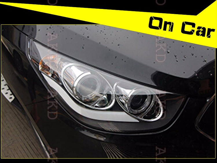 Auto Clud Car Styling for Angel Eye LED Headlight Hyundai IX35 Headlights DRL Lens Double Beam H7 HID Xenon bi xenon lens