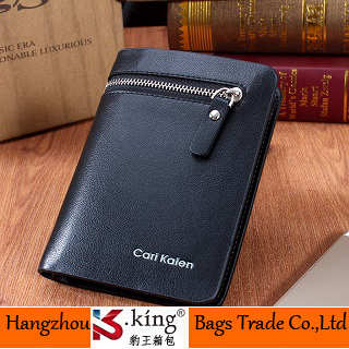 B.King 2015 New PU Leather Fashion Design Short Zipper Pocket Men's Leather Wallets , High Quality Unique Carteira Masculina(China (Mainland))