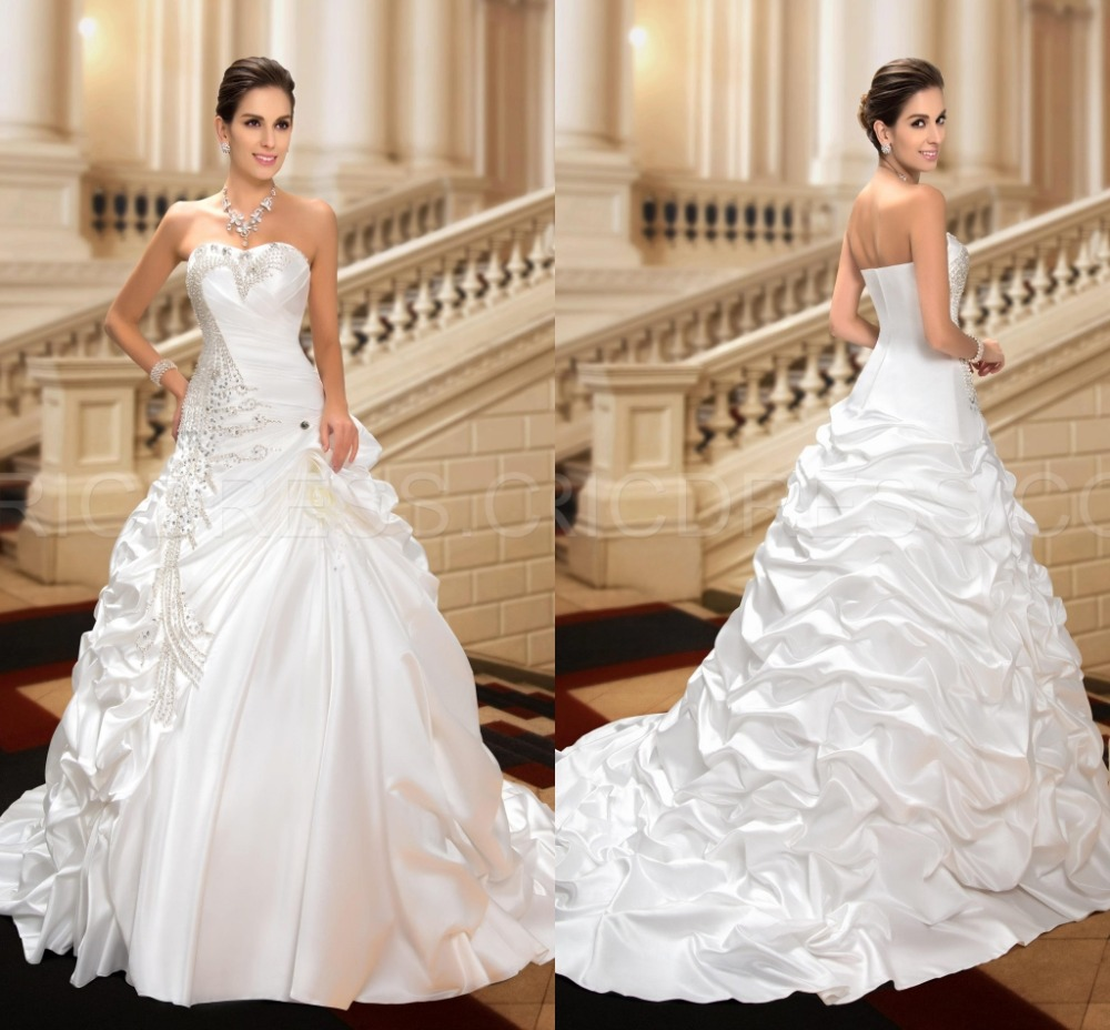 Sparkly Ball Gown Wedding Dresses: Sparkly Beaded Crystal Bridal Bride Ball Gown Wedding