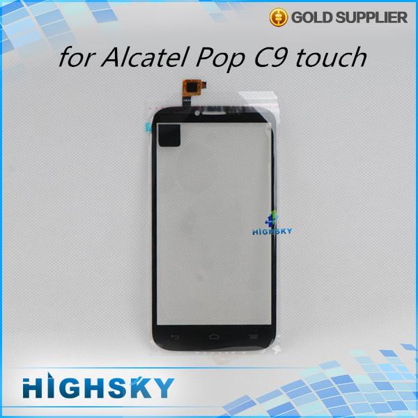 10 шт./лот бесплатная доставка Жк-стекла с flex кабель для Alcatel One Touch POP C9 Dual 7047 OT 7047D сенсорный экран digitizer alcatel ot 4035d pop d3 dual black fashion blue