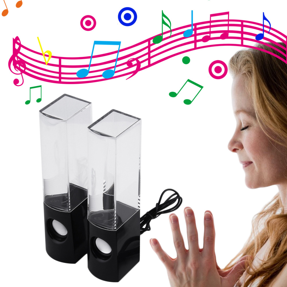 2016 Newest USB Water Dancing Fountain Stereo Music Speakers for PC Laptops Tablets<br><br>Aliexpress