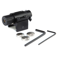 Matte Black Aluminum Alloy Mini Tactical Red Laser Sight For Pistol With 20mm Picatinny Weaver Rail 100M Plus Range.