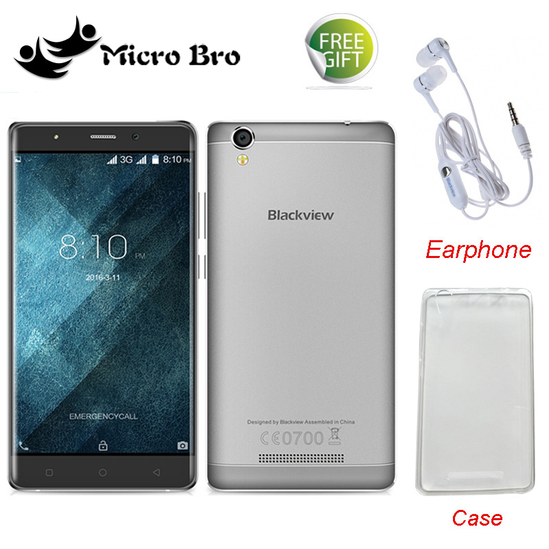 "Case+Earphone Gifts ! Original Blackview A8 MTK6580 5.0"" Quad Core Android 5.1 Mobile Cell Phone 1GB RAM 8GB ROM 8MP WCDMA(China (Mainland))"