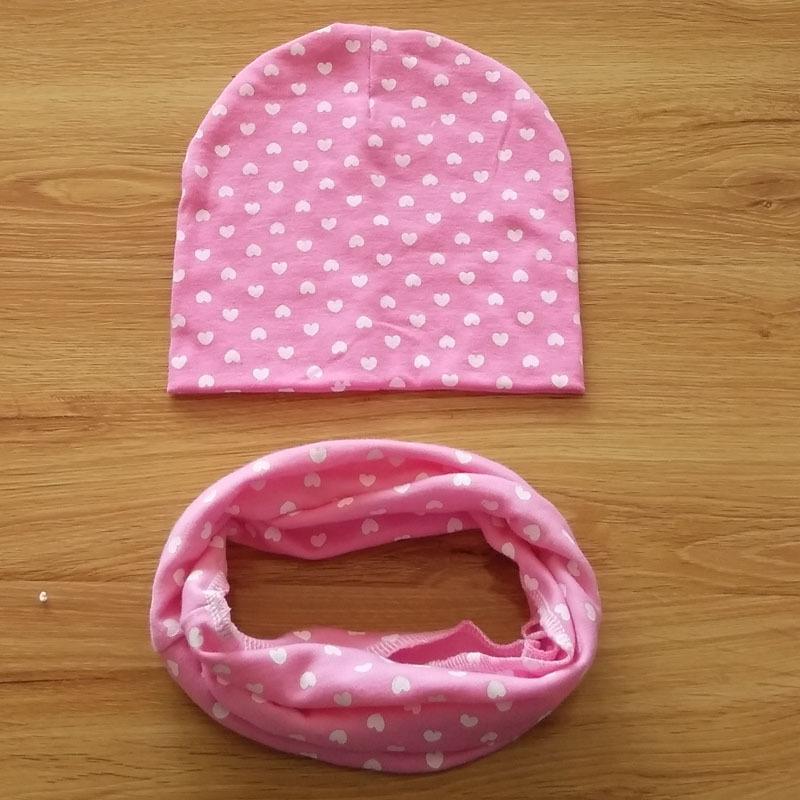 Autumn Winter Baby Hat + scarf 2pcs set Star printing Toddler Beanie Baby Cap Kids Girls Boys Hats Caps(China (Mainland))