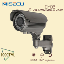 New cctv camera 1000TVL 1/4 CMOS 36pcs HD 2.8-12mm Zoom lens CCTV Camera IR CUT Outdoor Night Vision CCTV security With Bracket(China (Mainland))