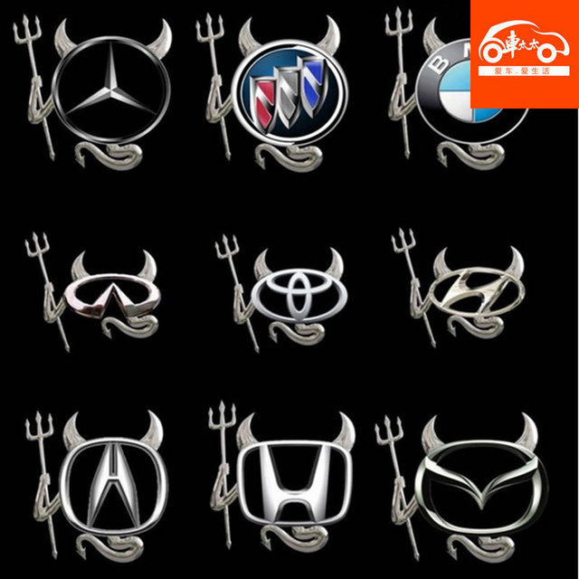 wholesale, New 3D Devil Style Demon Sticker Car Emblem Logo Paper,free shipping