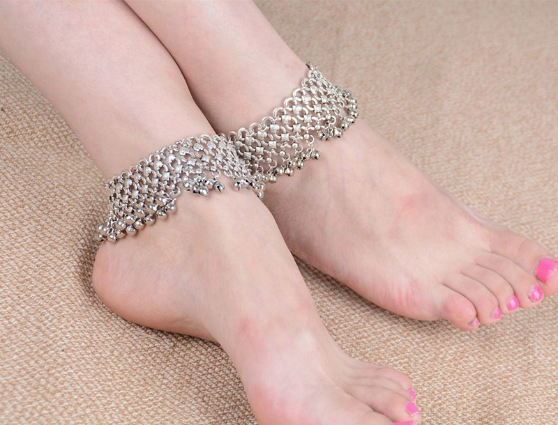 B-0640 Korean style silver plated bell bead foot chain fashion anklet for women jewelry adjustable, anklet - idealway_img1.cdn.tradevv.com_1