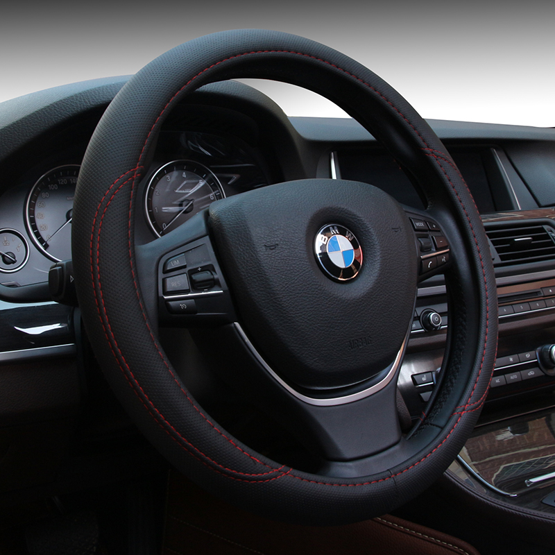 Summer pu Leather Sport Car Steering Wheel Cover Protector With Size M 38cm(China (Mainland))