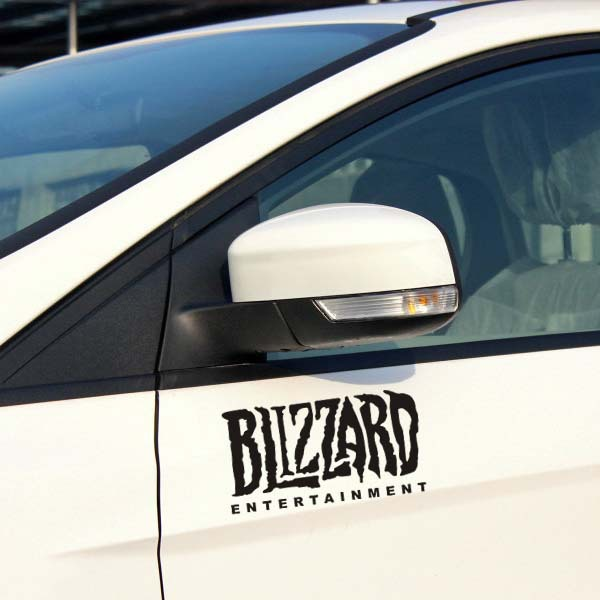 Blizzard Entertainment Car Styling Sticker decals Reflective for Tesla Toyota Chevrolet cruze Volkswagen skoda Hyundai Kia