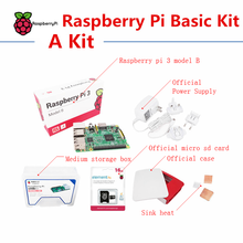 Raspberry pi 3 model B Basic Kit include Raspberry pi 3 board case power supply sink heat touch screen(China (Mainland))